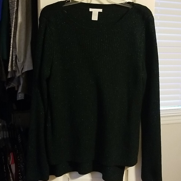H&M Hunter Green with green sparkles sweater